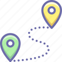 location, pin, route icon