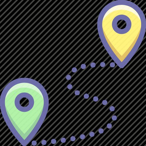 location, pin, route icon