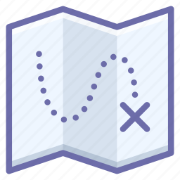 map, route, target icon