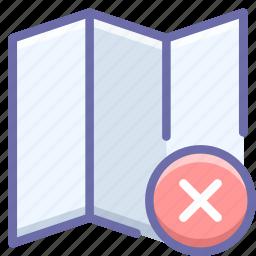 clear, delete, map icon