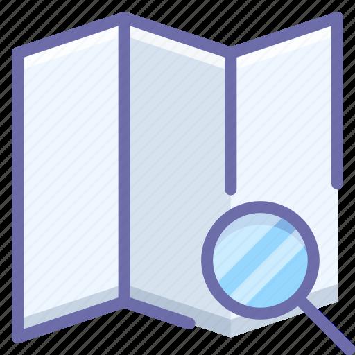 explore, map, search icon