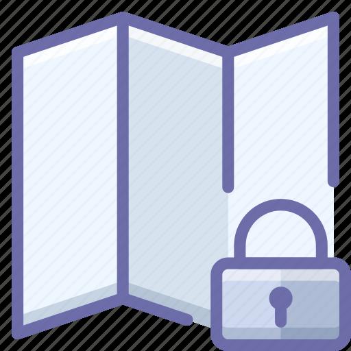 location, lock, map icon