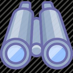 binoculars, search, watch icon