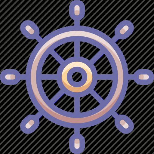 helm, marine, wheel icon