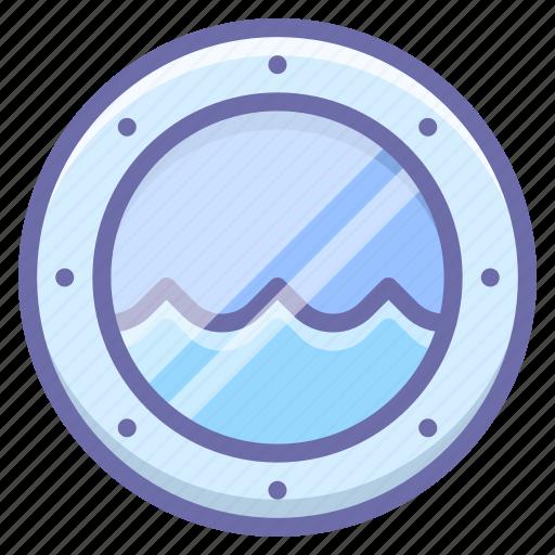marine, porthole, water icon
