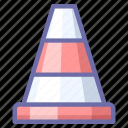 cone, consturction, traffic icon