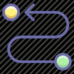 destination, road, route icon