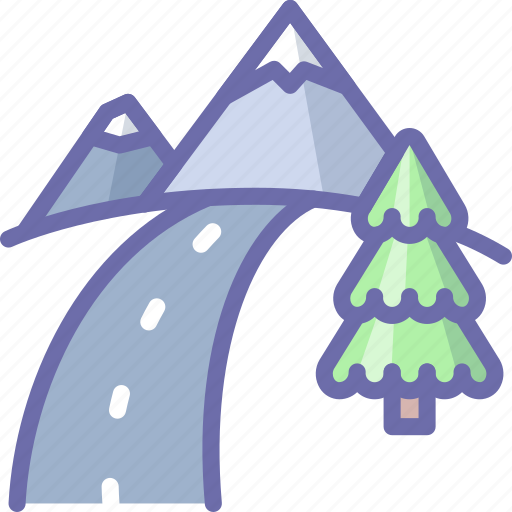 Mountains, road, nature icon - Download on Iconfinder