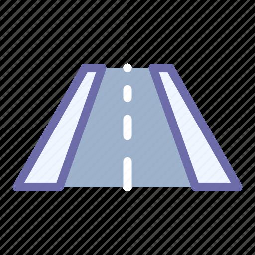 perspective, road, way icon