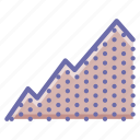 graph, mountain, uphill icon
