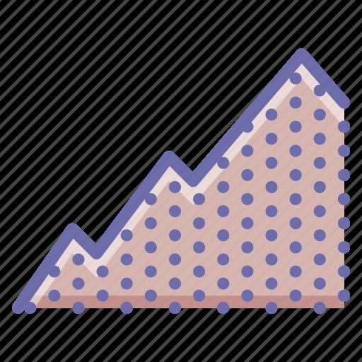 graph, mountain, uphill icon