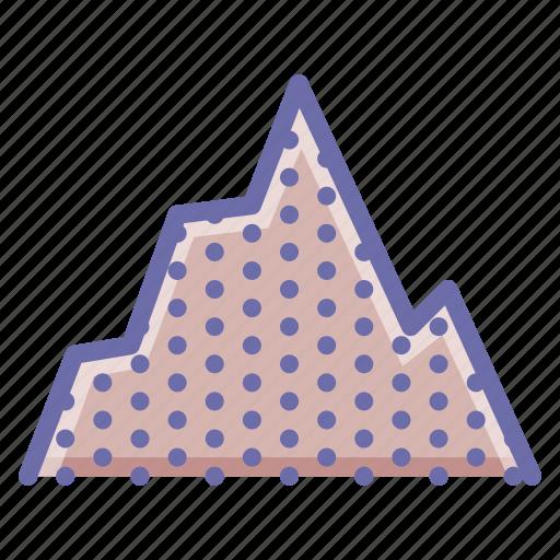 graph, hill, mountain icon