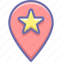 geo, location, star icon