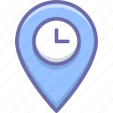 geo, location, time icon