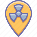 danger, geo, radioactivity icon
