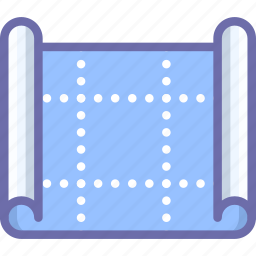 blueprint, drawing, scheme icon