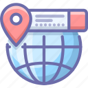 geo, globe, location icon