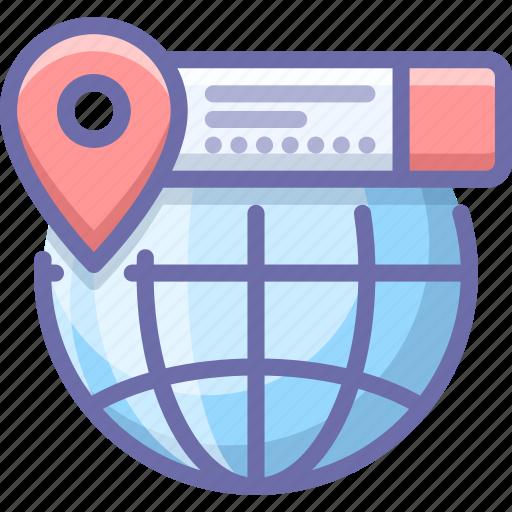 geo, globe, location icon