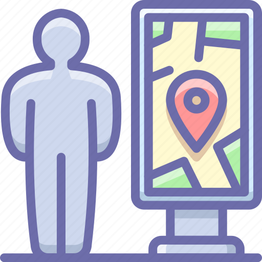 Map, navigation, man icon - Download on Iconfinder