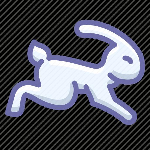 fast, rabbit icon