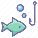 fish, fishing, hook icon