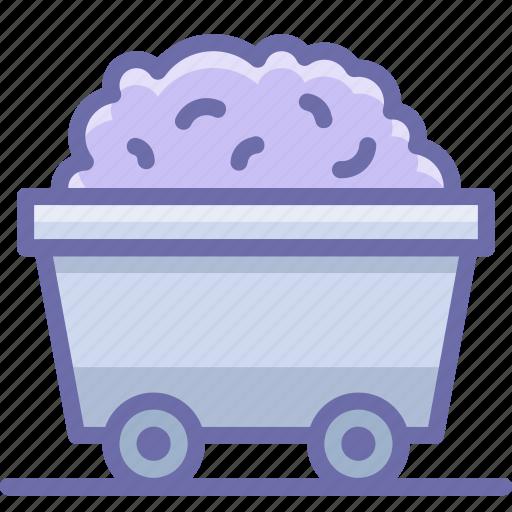 cart, mine, rail icon