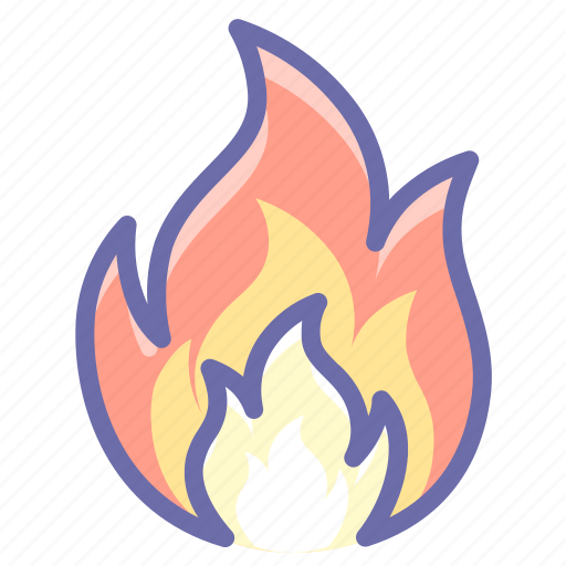 fire, flame, spark icon