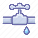 burst, pipe, valve icon