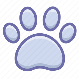 dog, footprint, trace icon