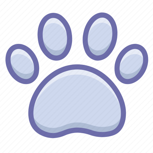 dog, footprint, trace icon