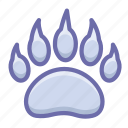 bear, footprint, trace icon