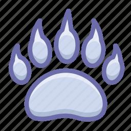 bear, footprint, trace icon