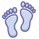 footprint, human, trace icon