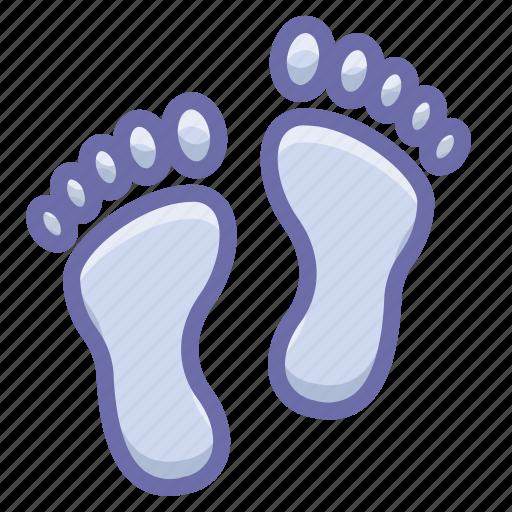 footprint, human, trace icon