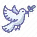 dove, olive, peace icon
