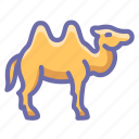 animal, camel, camelus, desert, hump, mammal icon
