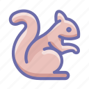 rodent, squirrel icon