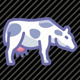 cow, farm icon