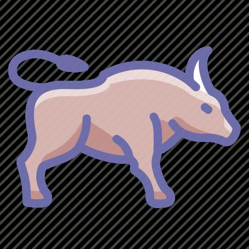 buffalo, bull, yak icon