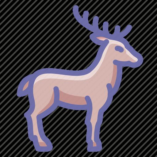 deer, elk, horns icon