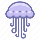 jelly, jellyfish icon