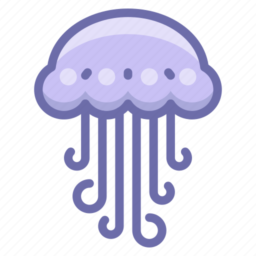 jelly, jellyfish icon