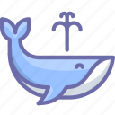 animal, mammal, nature, ocean, orca, water, whale icon