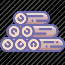log, sawmill, wood icon