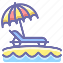 beach, umbrella, vacation
