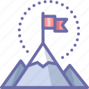 flag, mountains icon