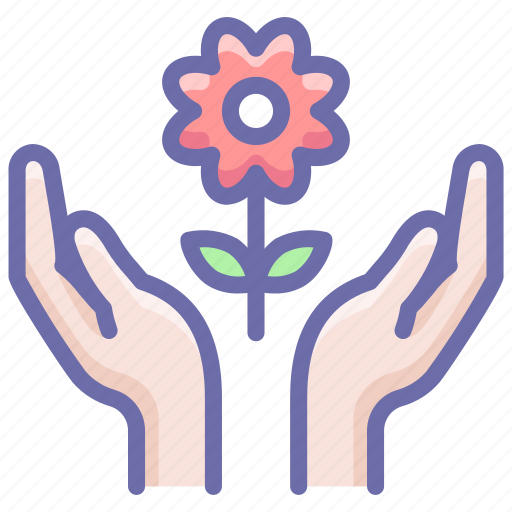 Care, flower, hands icon - Download on Iconfinder