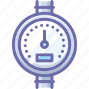 gauge, meter, pipe icon