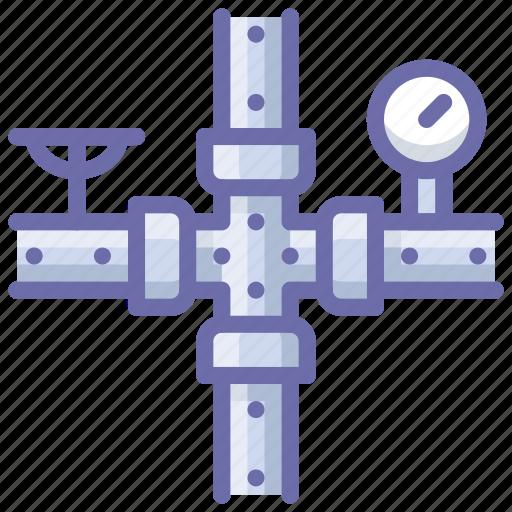 gauge, meter, pipe icon