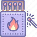 fire, matches, spark icon